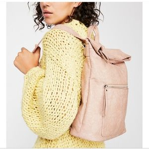 Free People Lennon Washed Backpack Leather